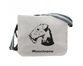 RucksäckeCanvas Rucksack HunderassenAiredale Terrier 2 - Canvas Schultertasche Messenger mit Namen