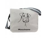 Taschen & RucksäckeCanvas Tasche HunderasseAiredale Terrier 3 - Canvas Schultertasche Messenger mit Namen