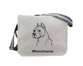Schmuck & AccessoiresVersilberte AnhängerAmerican Staffordshire Terrier - Canvas Schultertasche Messenger mit Namen