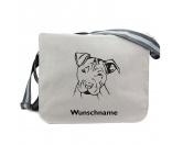 Bekleidung & AccessoiresHundesportwesten mit Hundemotiven inkl. Rückentasche MIL-TEC ®American Staffordshire Terrier 2 - Canvas Schultertasche Messenger mit Namen