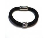 Für MenschenNostalgische GeschenkartikelHundefan Armband TAU mit Pfote - schwarz