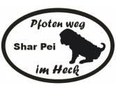 RestpostenPfoten Weg - Aufkleber: Shar Pei 2
