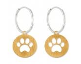 Für TiereLeckerlies & HundekekseSilberwerk Creole Pfote -Gold- matt- groß- 18 x 33 mm