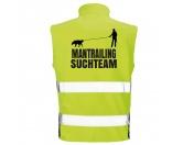 Bekleidung & AccessoiresWarnwesten & SicherheitswestenHundesport Safety Softshell Warnweste Sicherheitsweste: Mantrailing 3 XL EINZELSTÜCK