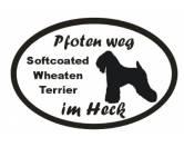 Für TiereHundemotiv - HandtücherPfoten Weg - Aufkleber: Softcoated Wheaten Terrier