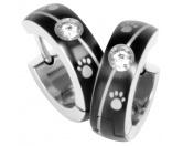 Taschen & RucksäckeCanvas Messenger -Hundesprüche-Energy and Life Magnetschmuck - Ohrringe Pfötchen Linie -Zirkonia- schwarz