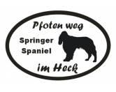 Schmuck & AccessoiresHunderassen-Broschen versilbert/vergoldetPfoten Weg - Aufkleber: Springer Spaniel 2