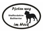 Schmuck & AccessoiresHunderassen-Broschen versilbert/vergoldetPfoten Weg - Aufkleber: Staffordshire Bullterrier 3