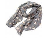 Bekleidung & AccessoiresSchals für TierfreundePfötchen - Schal Hundemotiv grau - rosegold