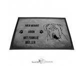 Fußmatten & LäuferFußmatten Hunderasse farbigBordeaux Dogge - Fußmatte - Schmutzfangmatte - 40 x 60 cm