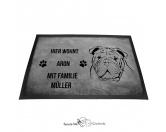 Fußmatten & LäuferFußmatten Hunderasse farbigEnglische Bulldogge - Fußmatte - Schmutzfangmatte - 40 x 60 cm