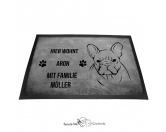 Bekleidung & AccessoiresGesichtsabdeckungFranzösische Bulldogge - Fußmatte - Schmutzfangmatte - 40 x 60 cm