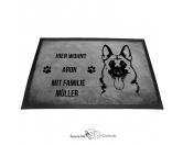 Fußmatten & LäuferFußmatten Hunderasse farbigDeutscher Schäferhund 7 - Fußmatte - Schmutzfangmatte - 40 x 60 cm