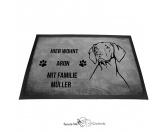 Bekleidung & AccessoiresHundesportwesten mit Hundemotiven inkl. Rückentasche MIL-TEC ®Vizsla - Fußmatte - Schmutzfangmatte -  40 x 60 cm