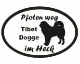 Für Menschen% SALE %Pfoten Weg - Aufkleber: Tibet Dogge