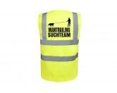 Bekleidung & AccessoiresSoftshell Fleece Warnwesten & SicherheitswestenHundesport Warnweste Sicherheitsweste: Mantrailing 3 M neongelb EINZELSTÜCK