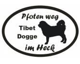 Für Menschen% SALE %Pfoten Weg - Aufkleber: Tibet Dogge 2