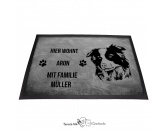 Fußmatten & LäuferFußmatten HunderasseBorder Collie - Fußmatte - Schmutzfangmatte - 40 x 60 cm
