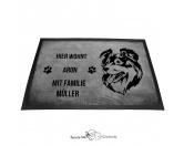 Für Menschen% SALE %Australian Shepherd 3 - Fußmatte - Schmutzfangmatte - 40 x 60 cm