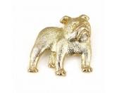 Fußmatten & LäuferFußmatten Hunderasse farbigEnglische Bulldogge Zinn-Brosche - Vergoldet