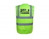 Bekleidung & AccessoiresWarnwesten & SicherheitswestenHundesport Warnweste Sicherheitsweste: Mantrailing M Lime EINZELSTÜCK