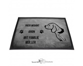 Bekleidung & AccessoiresHundesportwesten mit Hundemotiven inkl. Rückentasche MIL-TEC ®Beagle 2 - Fußmatte - Schmutzfangmatte - 40 x 60 cm