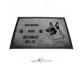Bekleidung & AccessoiresHundesportwesten mit Hundemotiven inkl. Rückentasche MIL-TEC ®Belgischer Schäferhund 1 Malinois - Fußmatte - Schmutzfangmatte - 40 x 60 cm