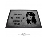 Für Menschen% SALE %Berner Sennenhund 1 - Fußmatte - Schmutzfangmatte - 40 x 60 cm