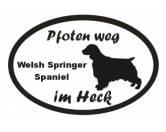 Schmuck & AccessoiresHunderassen-Broschen versilbert/vergoldetPfoten Weg - Aufkleber: Welsh Springer Spaniel