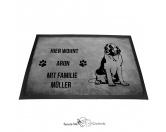 Fußmatten & LäuferFußmatten Hunderasse farbigBernhardiner 1 - Fußmatte - Schmutzfangmatte - 40 x 60 cm