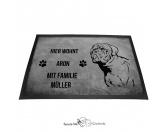 Fußmatten & LäuferFußmatten Hunderasse farbigBordeaux Dogge 2 - Fußmatte - Schmutzfangmatte - 40 x 60 cm