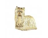 Schmuck & AccessoiresVersilberte AnhängerYorkshire Terrier Zinn-Brosche - Vergoldet