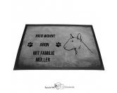 Fußmatten & LäuferFußmatten HunderasseBullterrier - Fußmatte - Schmutzfangmatte - 40 x 60 cm