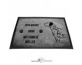 Bekleidung & AccessoiresSchals für TierfreundeDalmatiner - Fußmatte - Schmutzfangmatte - 40 x 60 cm
