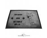Fußmatten & LäuferFußmatten Hunderasse farbigFranzösische Bulldogge 1 - Fußmatte - Schmutzfangmatte - 40 x 60 cm