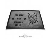 Bekleidung & AccessoiresGesichtsabdeckungFranzösische Bulldogge 2 - Fußmatte - Schmutzfangmatte - 40 x 60 cm