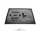 Fußmatten & LäuferFußmatten Hunderasse farbigGolden Retriever 1 - Fußmatte - Schmutzfangmatte - 40 x 60 cm