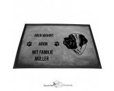 Fußmatten & LäuferFußmatten Hunderasse farbigMastiff - Fußmatte - Schmutzfangmatte - 40 x 60 cm