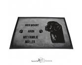 Bekleidung & AccessoiresHundesportwesten mit Hundemotiven inkl. Rückentasche MIL-TEC ®Neufundländer - Fußmatte - Schmutzfangmatte - 40 x 60 cm