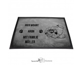 Fußmatten & LäuferFußmatten Hunderasse farbigPekinese - Fußmatte - Schmutzfangmatte - 40 x 60 cm