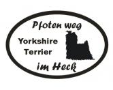 Tiermotiv Tassen3D Tassen HundePfoten Weg - Aufkleber: Yorkshire Terrier