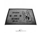 Bekleidung & AccessoiresGesichtsabdeckungSchäferhund 1 - Fußmatte - Schmutzfangmatte - 40 x 60 cm