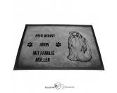 Fußmatten & LäuferFußmatten Hunderasse farbigShih Tzu 1 - Fußmatte - Schmutzfangmatte - 40 x 60 cm