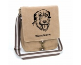 Fußmatten & LäuferFußmatten Hunderasse farbigIrish Wolfhound 2 - Canvas Schultertasche Tasche mit Hundemotiv und Namen
