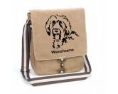 Taschen & RucksäckeCanvas Tasche HunderasseLabradoodle 2 Canvas Schultertasche Tasche mit Hundemotiv und Namen