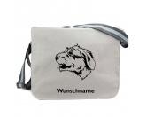 Fußmatten & LäuferFußmatten Hunderasse farbigIrish Wolfhound - Canvas Schultertasche Messenger mit Namen
