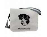 Bekleidung & AccessoiresHundesportwesten mit Hundemotiven inkl. Rückentasche MIL-TEC ®Großer Schweizer Sennenhund - Canvas Schultertasche Messenger mit Namen