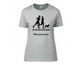 Garderoben & SchlüsselboardsDesign Leinengarderoben - HunderassenHundespruch T-Shirt: Die mit dem Hund laufen
