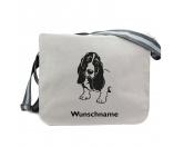 Bekleidung & AccessoiresHundesportwesten mit Hundemotiven inkl. Rückentasche MIL-TEC ®Basset Hound 1 - Canvas Schultertasche Messenger mit Namen