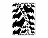 Backformen & ZubehörAusstechförmchen HundeAufkleber Silhouetten-Satz: Norwich Terrier